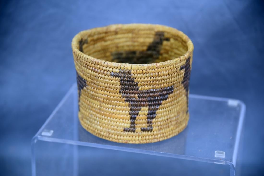 Lot of 4 Native American Coil Baskets - 9