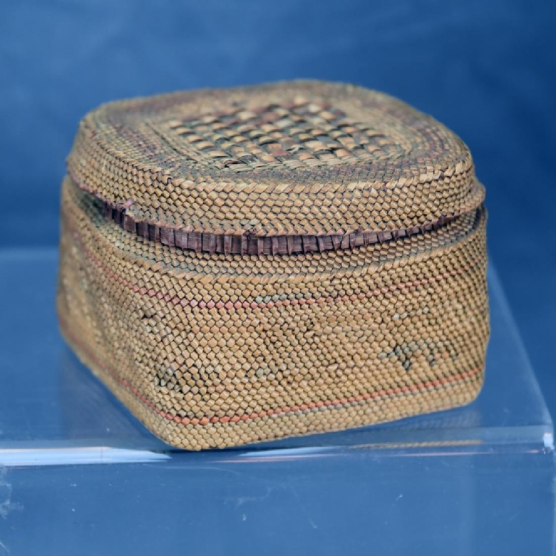 Native American Basket with Lid