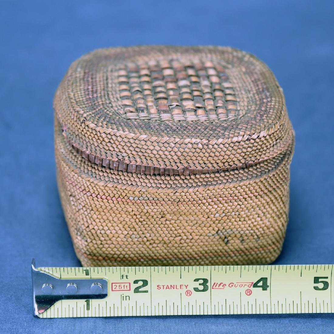 Native American Basket with Lid - 2