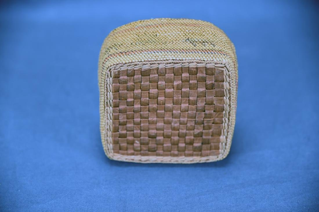 Native American Basket with Lid - 3