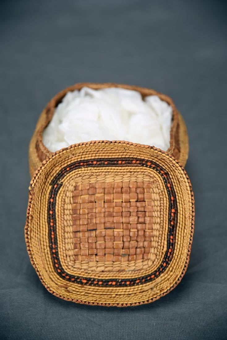 Native American Basket with Lid - 4