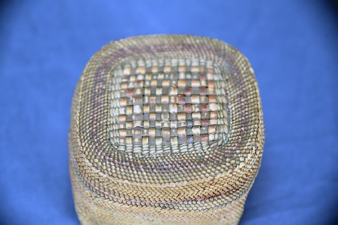 Native American Basket with Lid - 5