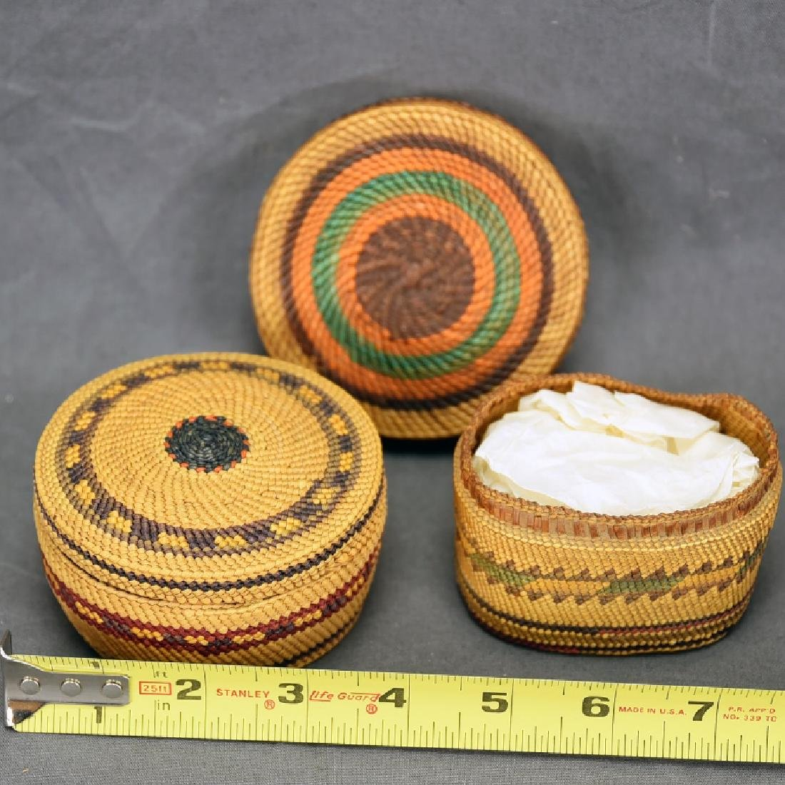 Lot of 2 Native American Makah Trinket Baskets - 4