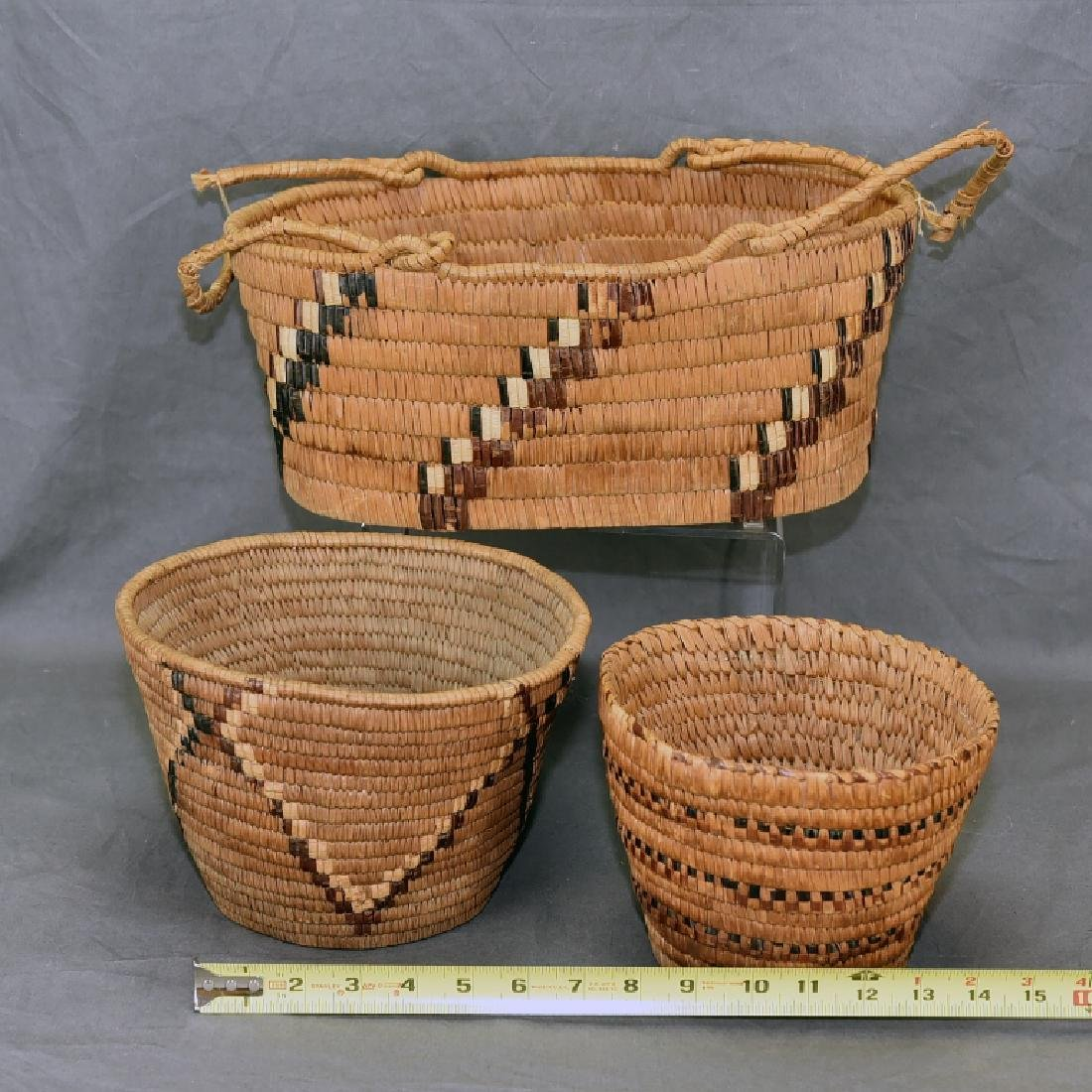3 Thompson River Native American Baskets - 2
