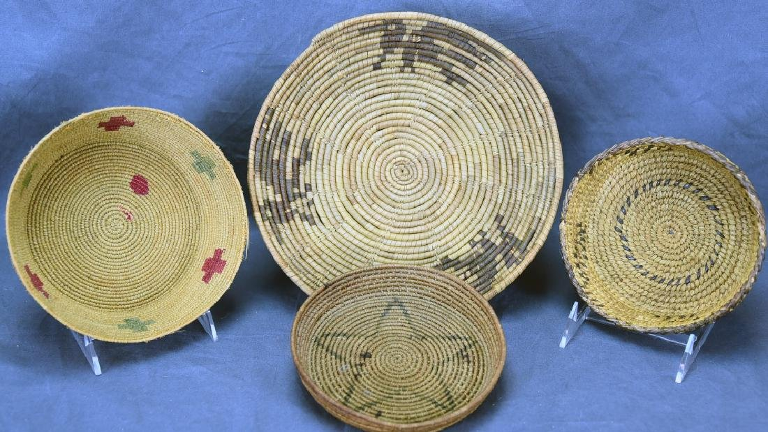 4 Southwest Native American Coil Baskets