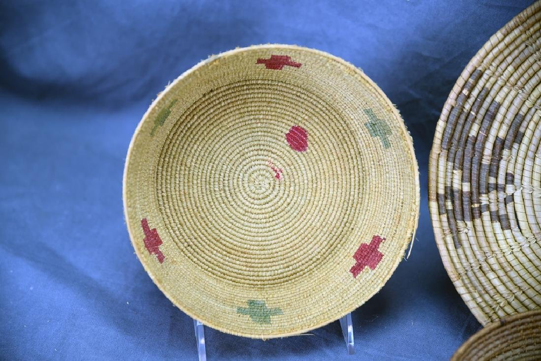 4 Southwest Native American Coil Baskets - 2