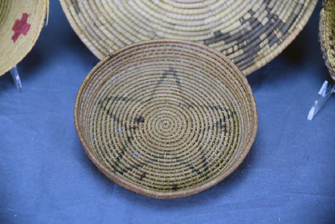 4 Southwest Native American Coil Baskets - 3