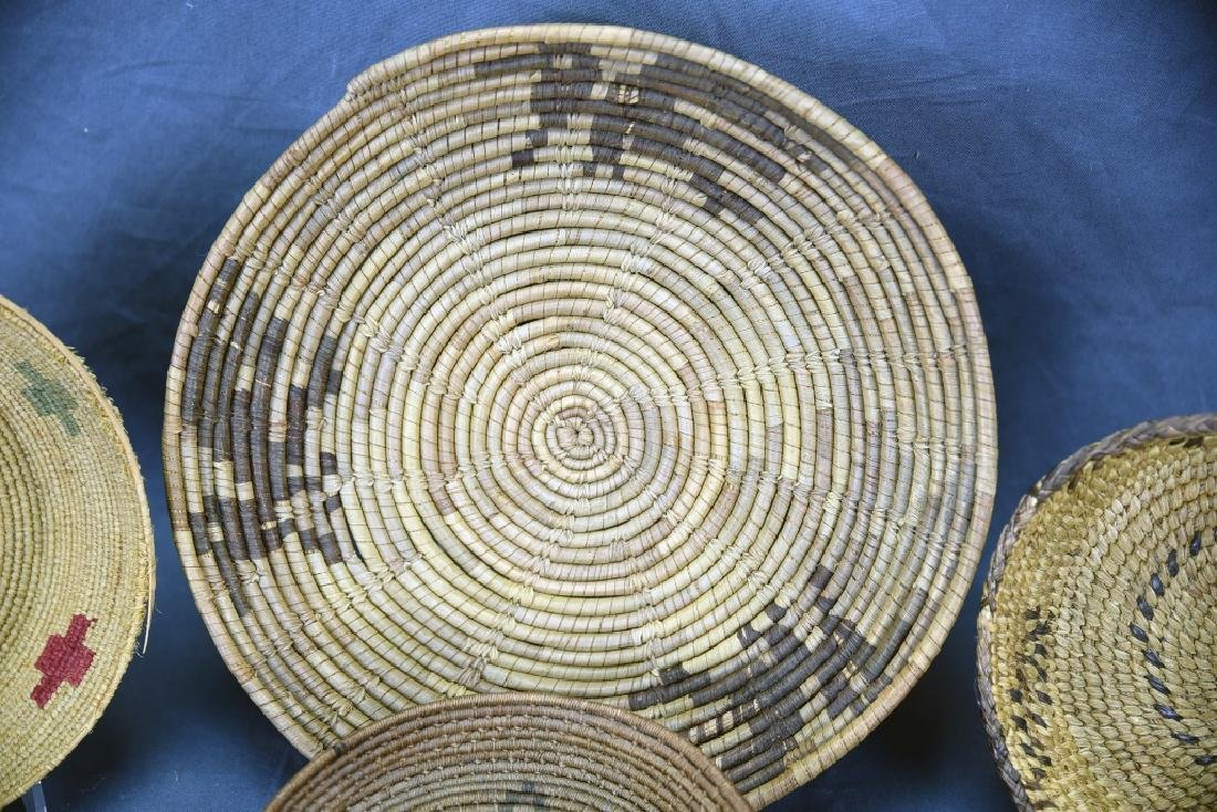 4 Southwest Native American Coil Baskets - 4