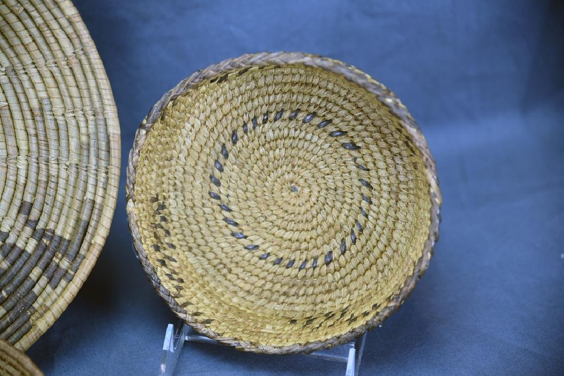 4 Southwest Native American Coil Baskets - 5