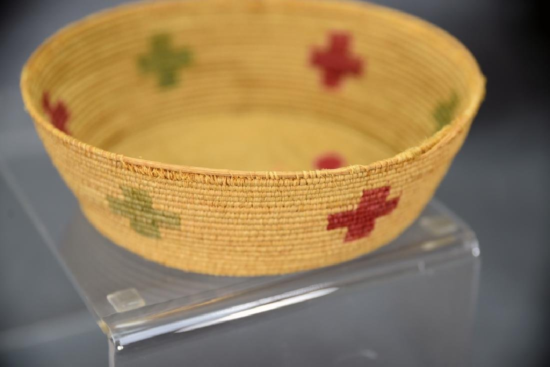 4 Southwest Native American Coil Baskets - 7