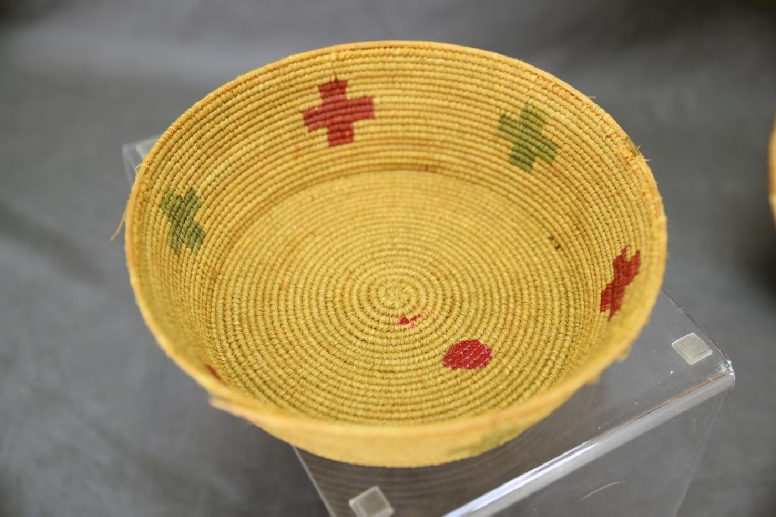 4 Southwest Native American Coil Baskets - 9