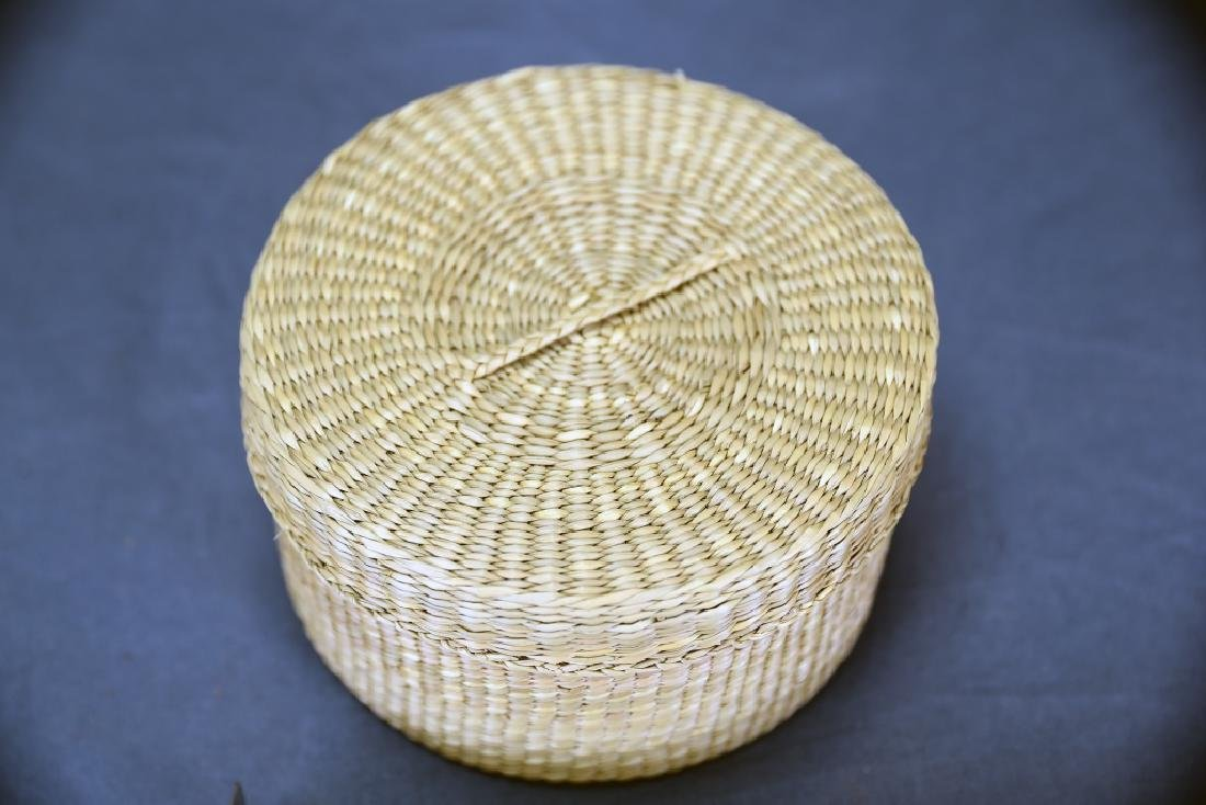3 Native American Covered Baskets - 10