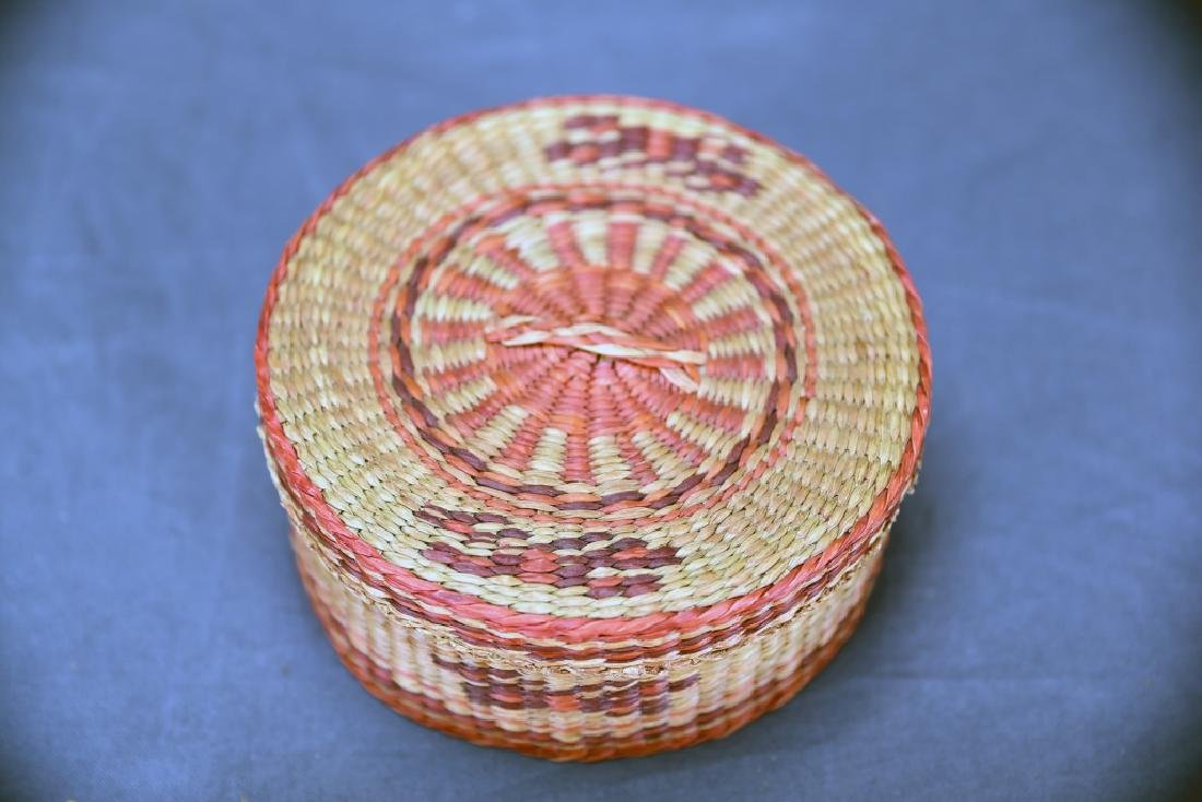 3 Native American Covered Baskets - 5