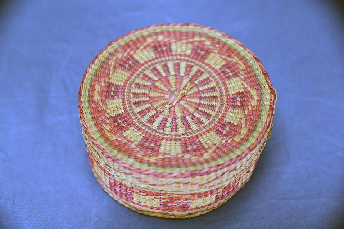 3 Native American Covered Baskets - 7