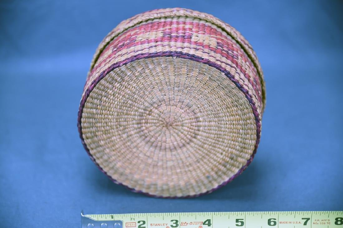 3 Native American Covered Baskets - 8