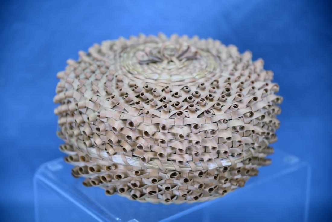 Seneca Split Ash Sweet Grass Covered Basket