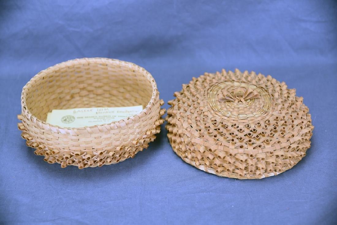 Seneca Split Ash Sweet Grass Covered Basket - 3