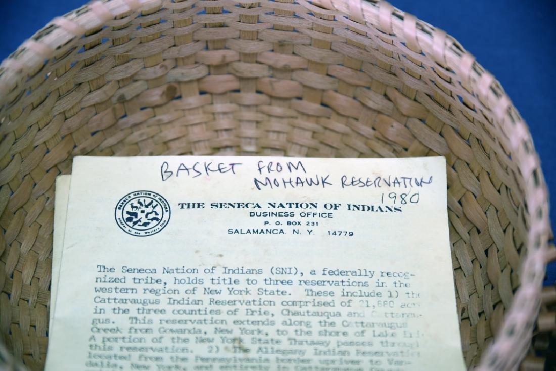 Seneca Split Ash Sweet Grass Covered Basket - 4