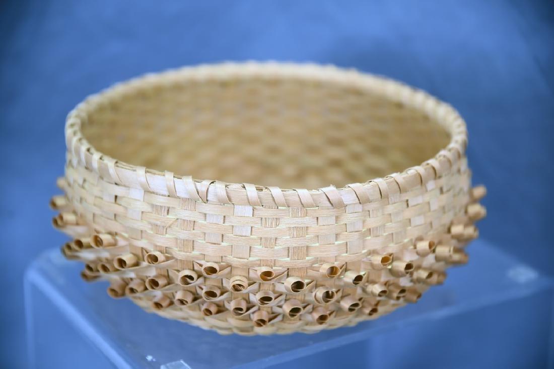Seneca Split Ash Sweet Grass Covered Basket - 5