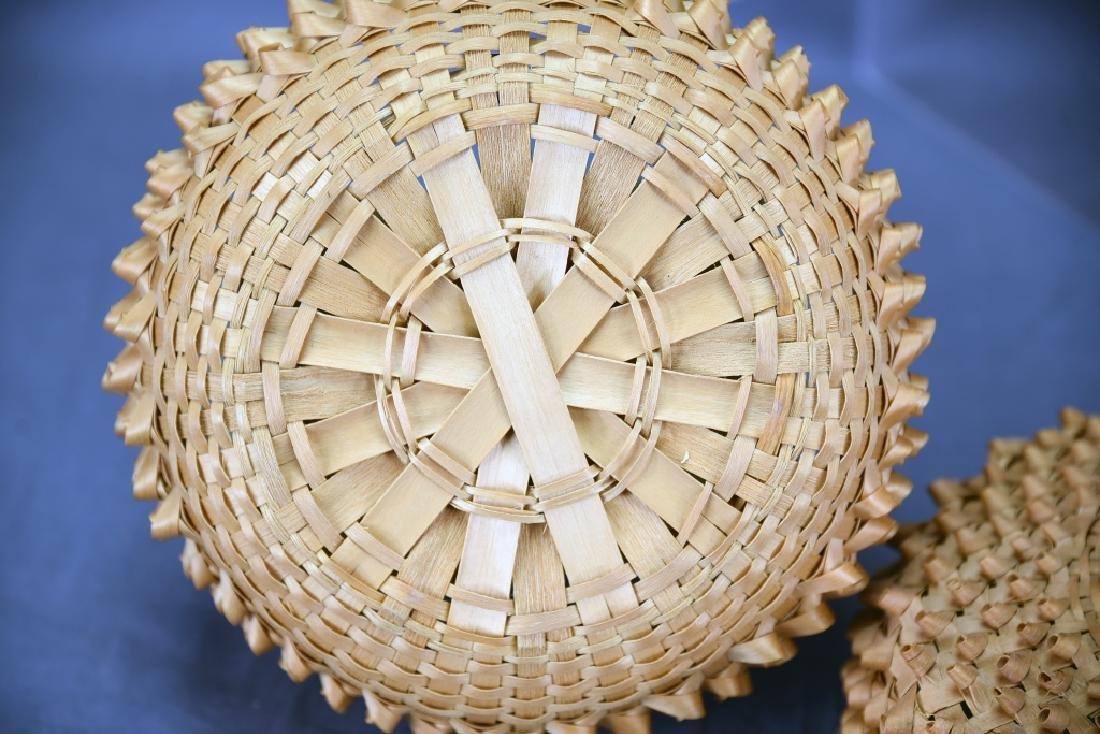 Seneca Split Ash Sweet Grass Covered Basket - 8