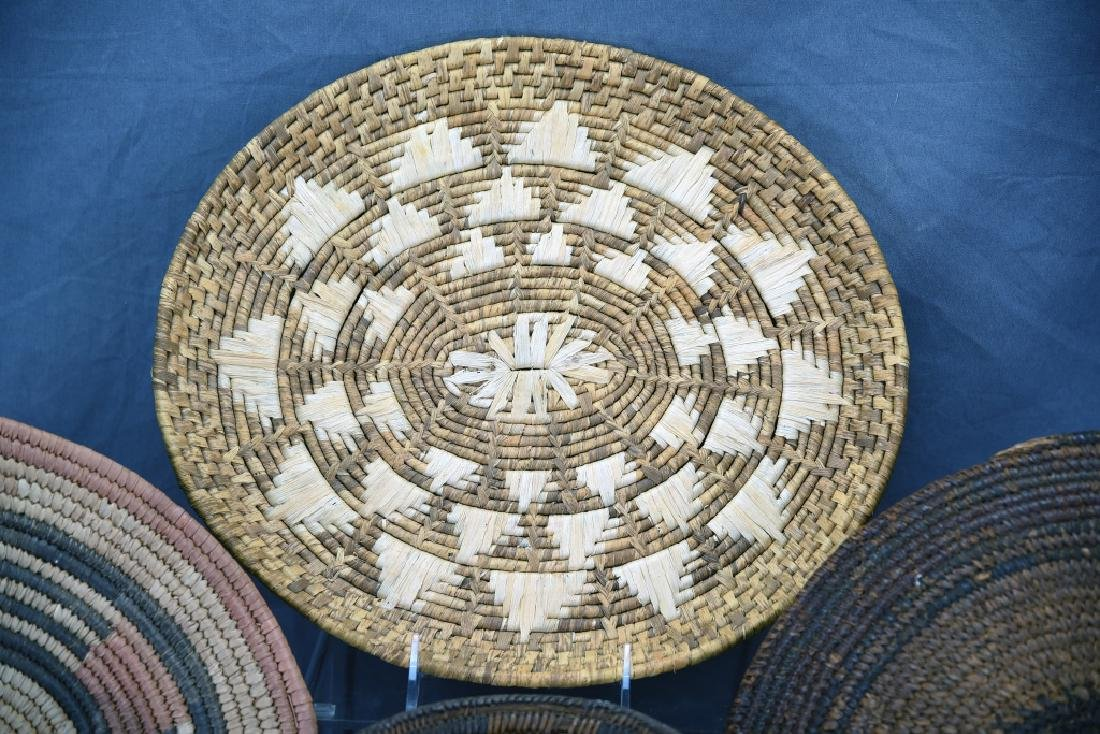 2 Native American Coil Trays and a Basket - 3