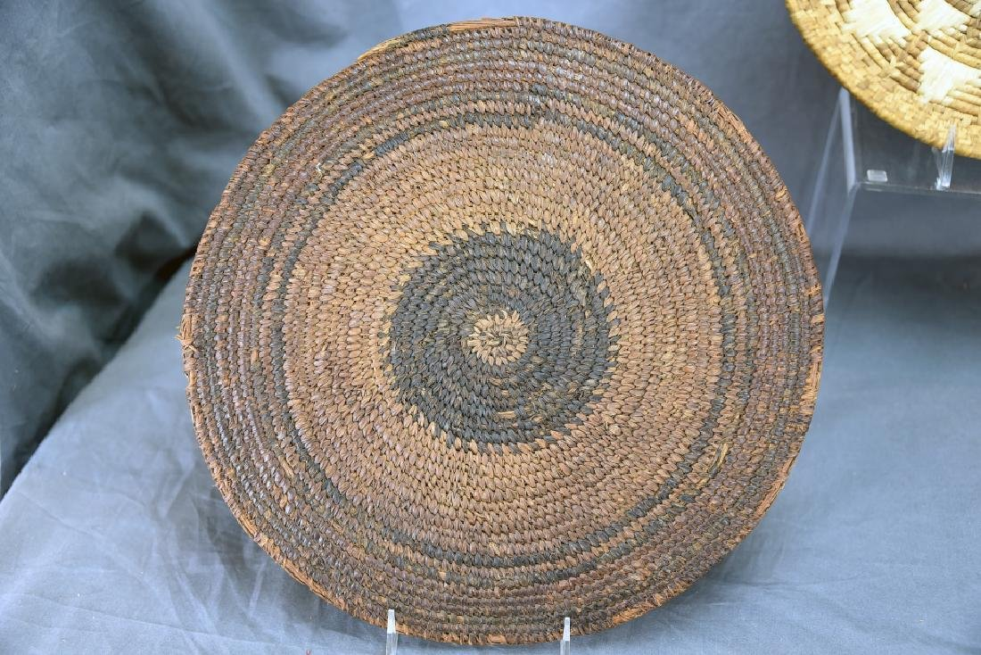 2 Native American Coil Trays and a Basket - 7