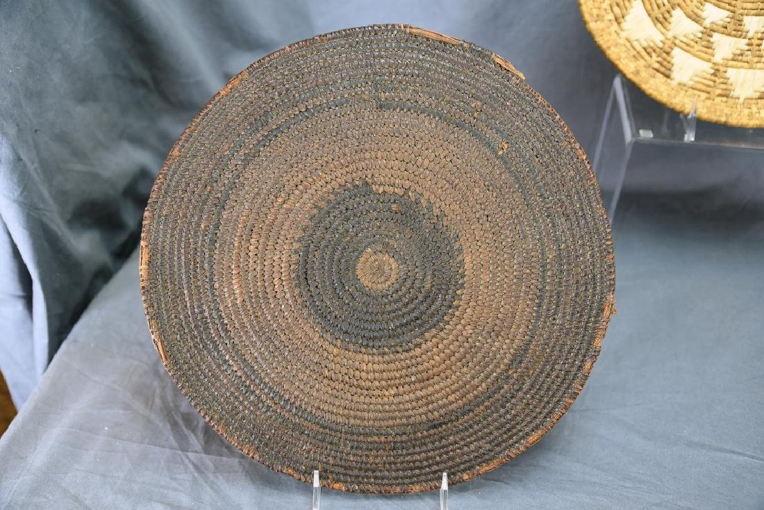 2 Native American Coil Trays and a Basket - 8