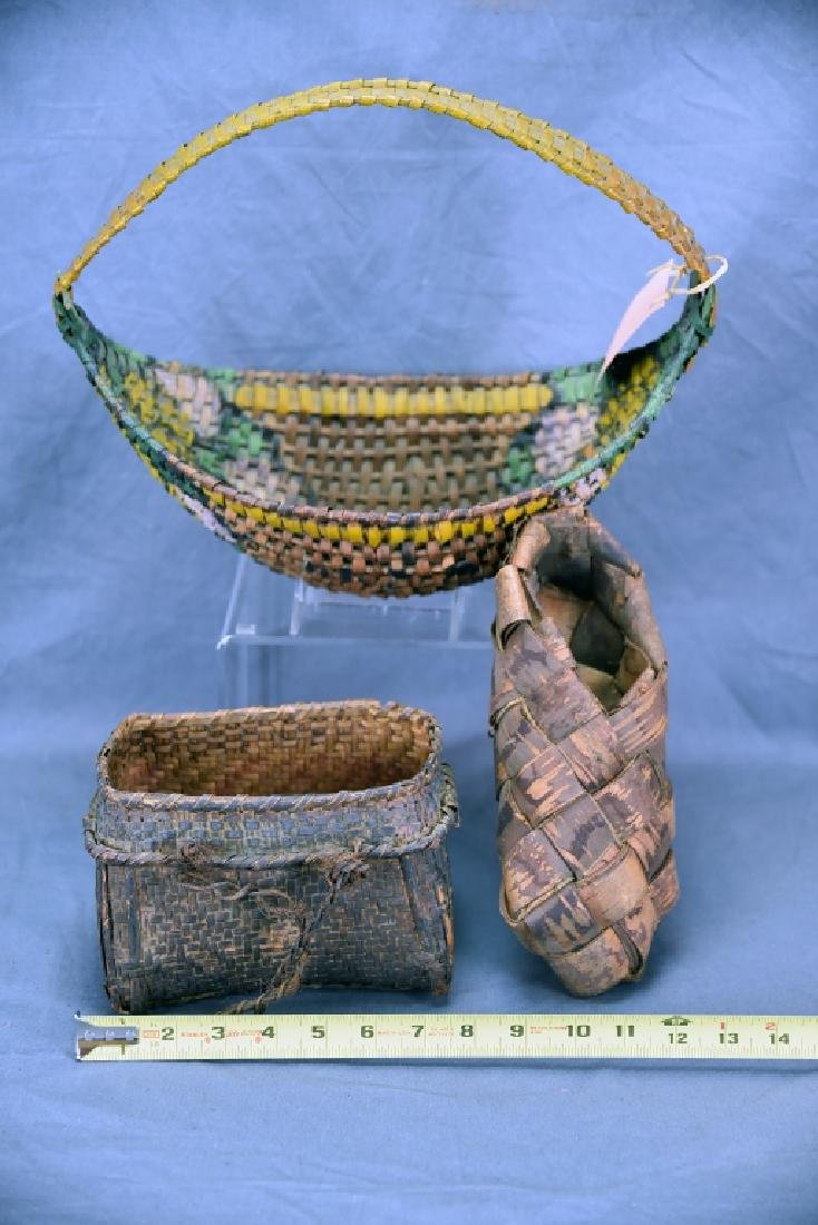 3 Native American Baskets - 2