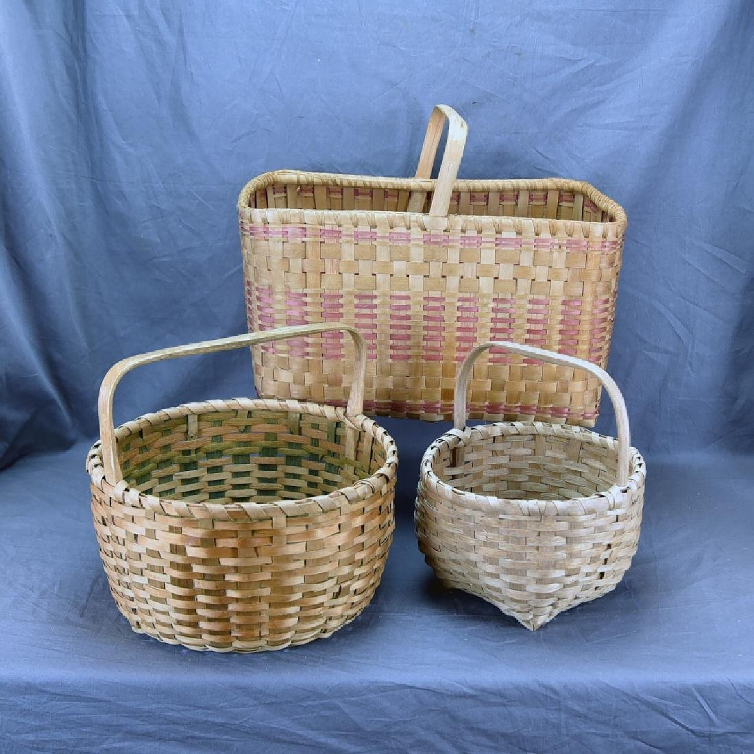 3 Native American Split Ash Market Baskets