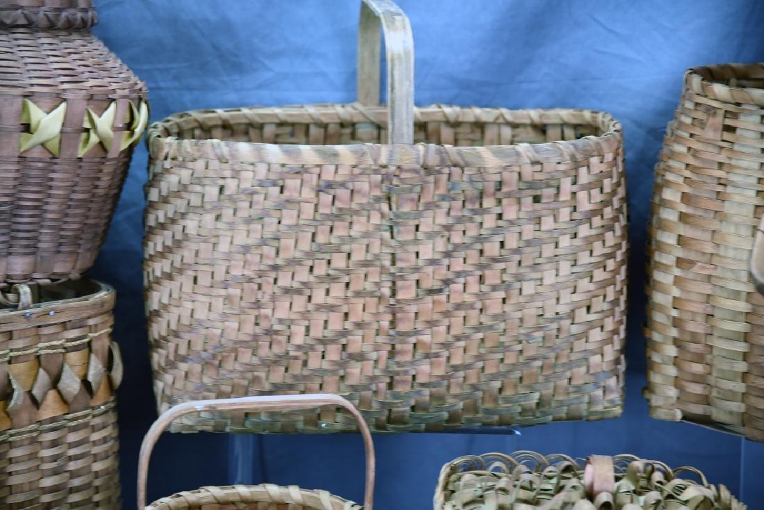 6 Native American Splint Market & Storage Baskets - 3