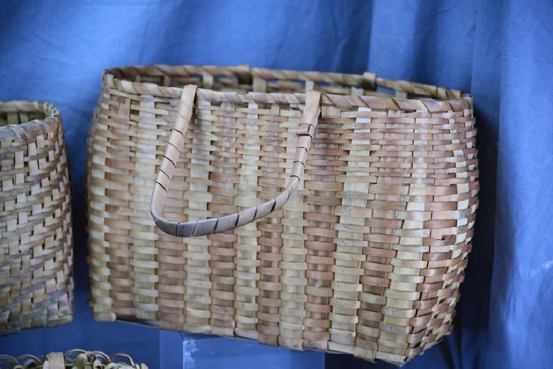 6 Native American Splint Market & Storage Baskets - 6