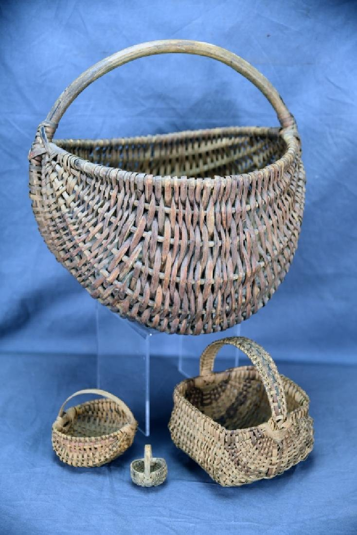 4 Native American Splint Baskets