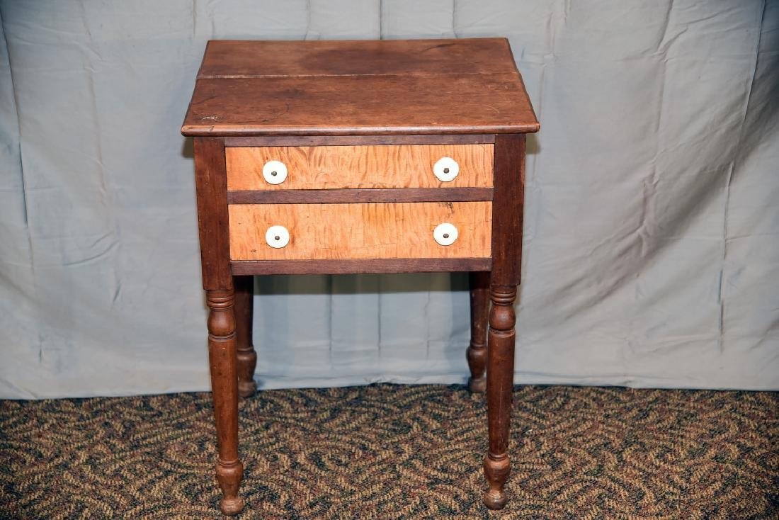 Walnut, Tiger Maple 2 Drawer Stand