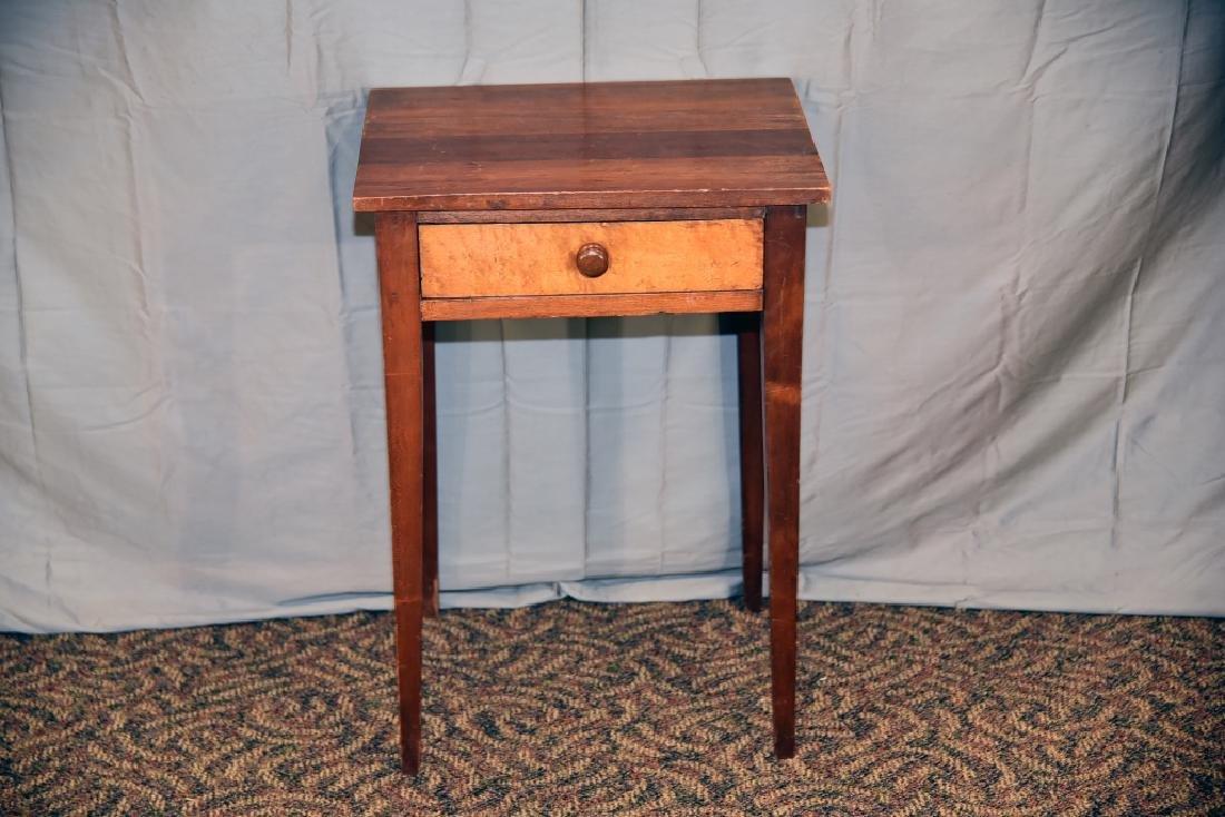 Walnut, Birdseye Maple 1 Drawer Stand