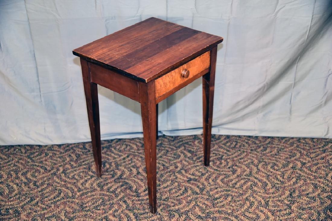 Walnut, Birdseye Maple 1 Drawer Stand - 2
