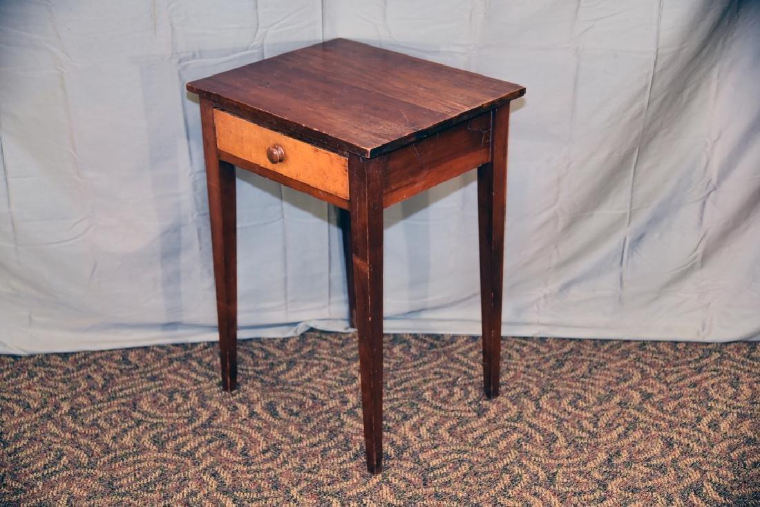Walnut, Birdseye Maple 1 Drawer Stand - 6