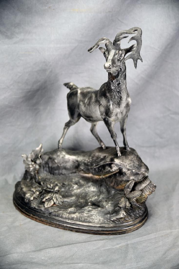 Cast Spelter Deer