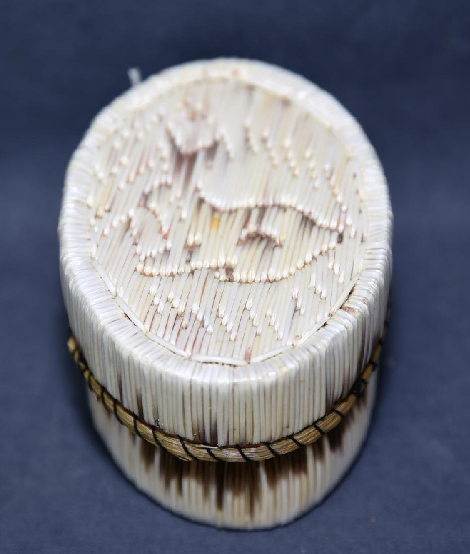 3 Porcupine Quill Boxes - 4