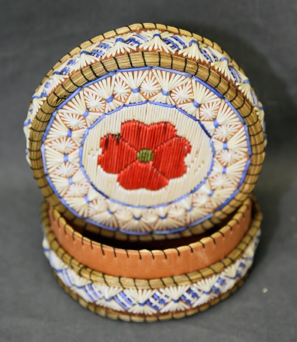 Ojibway Porcupine Quill Box - 2