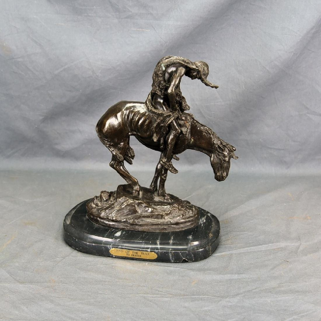 """Signed James Frazer """"End of the Trail"""" Bronze"""