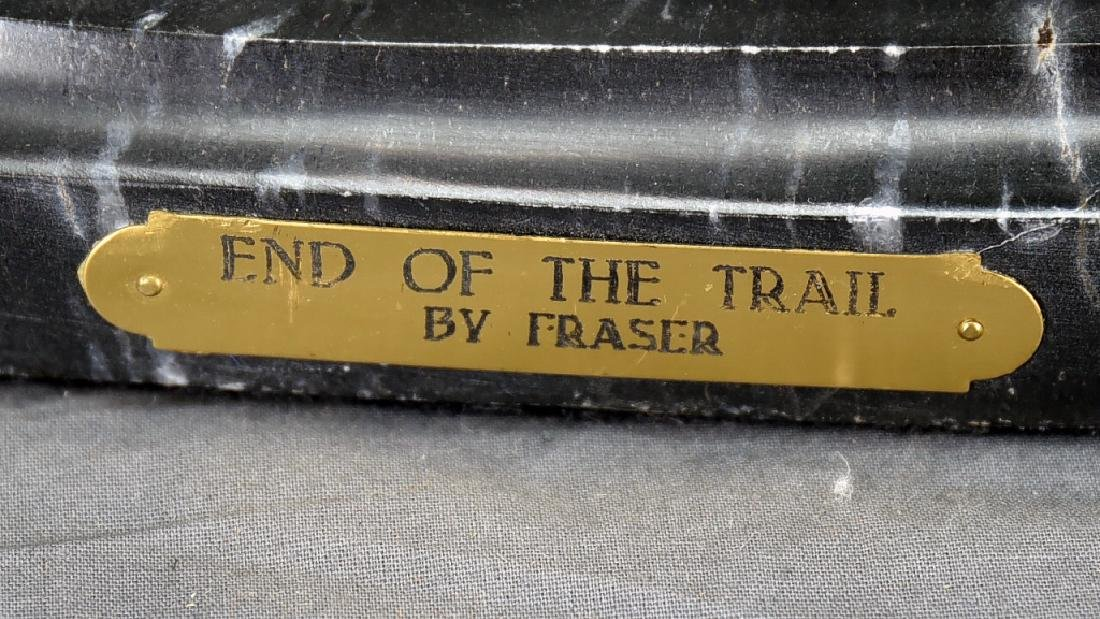 """Signed James Frazer """"End of the Trail"""" Bronze - 2"""