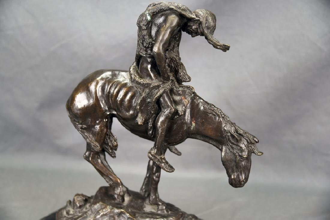 """Signed James Frazer """"End of the Trail"""" Bronze - 3"""