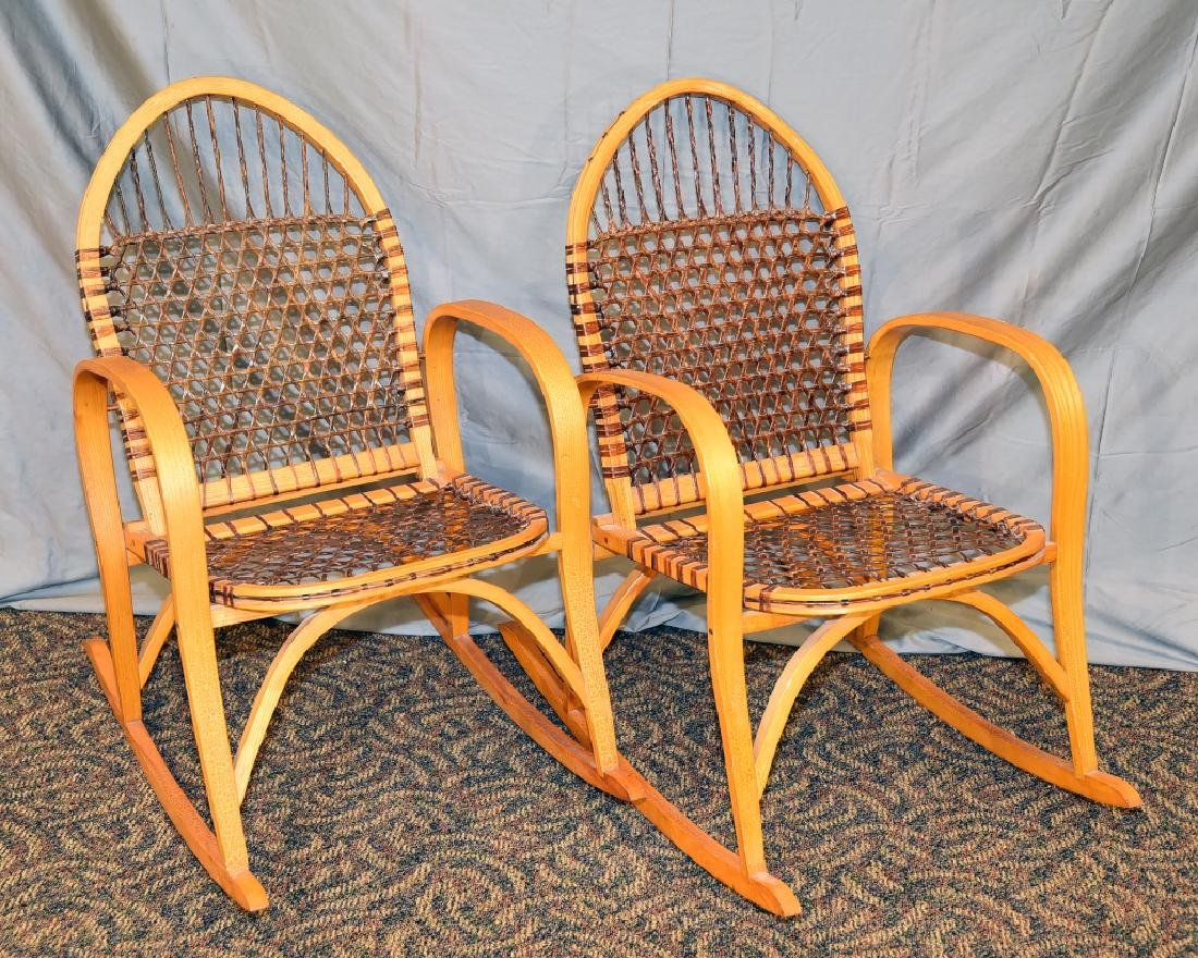 Pair Vermont Tubbs Snowshoe Rocking Chairs