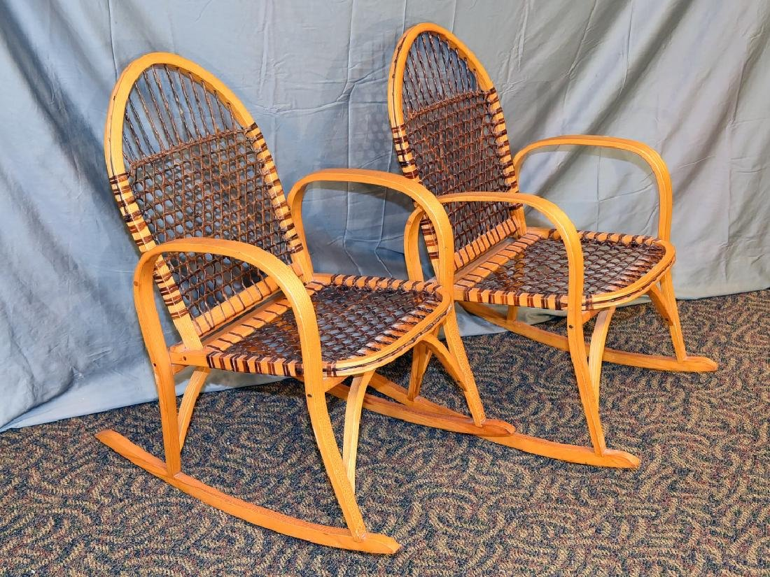 Pair Vermont Tubbs Snowshoe Rocking Chairs - 2