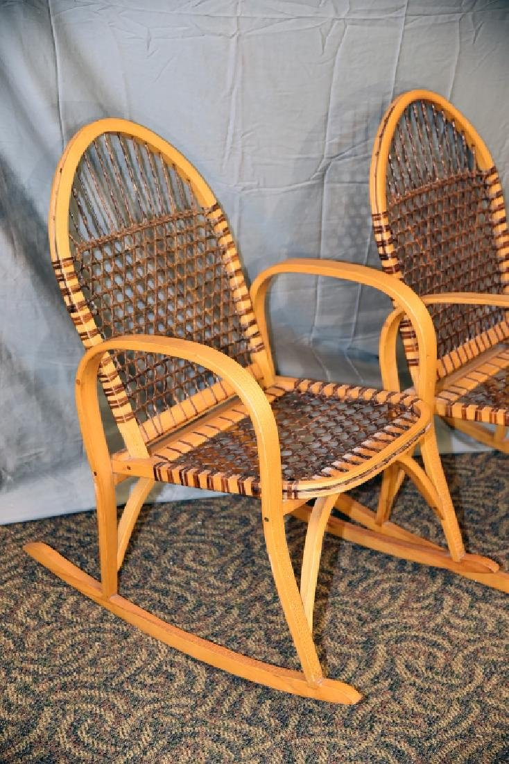 Pair Vermont Tubbs Snowshoe Rocking Chairs - 3