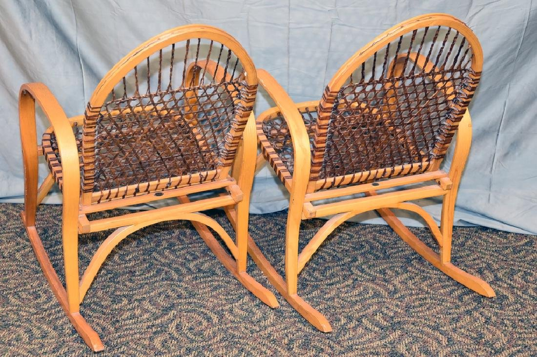 Pair Vermont Tubbs Snowshoe Rocking Chairs - 4
