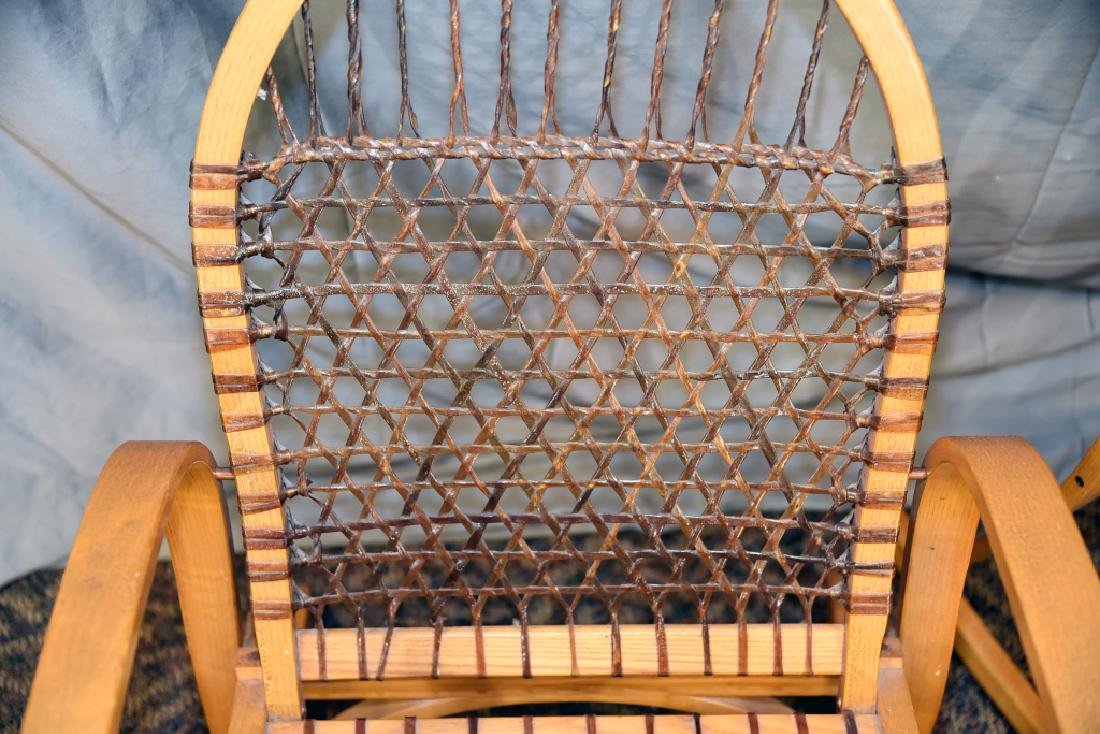 Pair Vermont Tubbs Snowshoe Rocking Chairs - 6