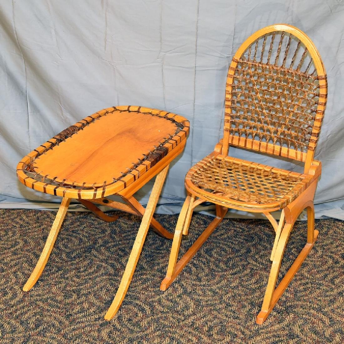 Vermont Tubbs Snowshoe Chair and End Table