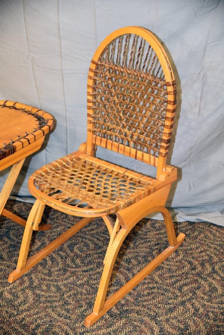 Vermont Tubbs Snowshoe Chair and End Table - 2