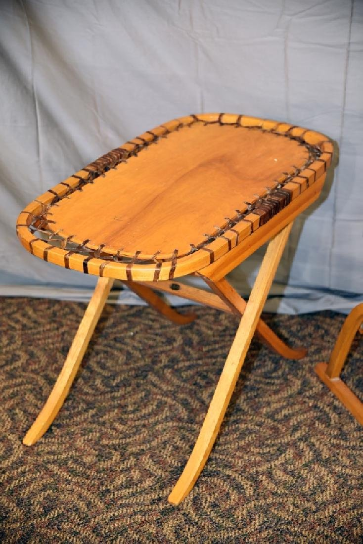 Vermont Tubbs Snowshoe Chair and End Table - 5